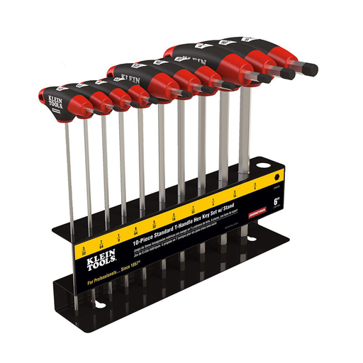 Mayer-Hex Key Set, SAE T-Handle, 6-Inch, with Stand, 10-Piece-1