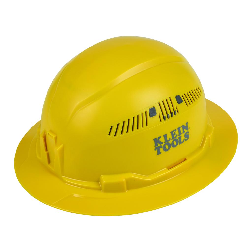 Mayer-Hard Hat, Vented, Full Brim Style, Yellow-1