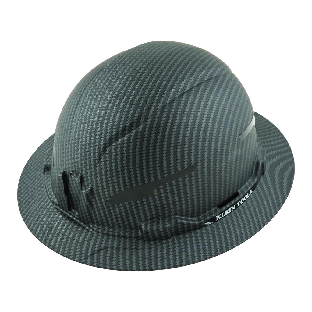 Mayer-Hard Hat, Premium KARBN™ Pattern, Non-Vented Full Brim, Class E-1