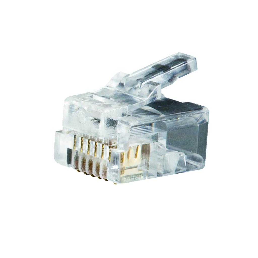 Mayer-Modular Telephone Plugs RJ11 6P6C, 25-Pack-1