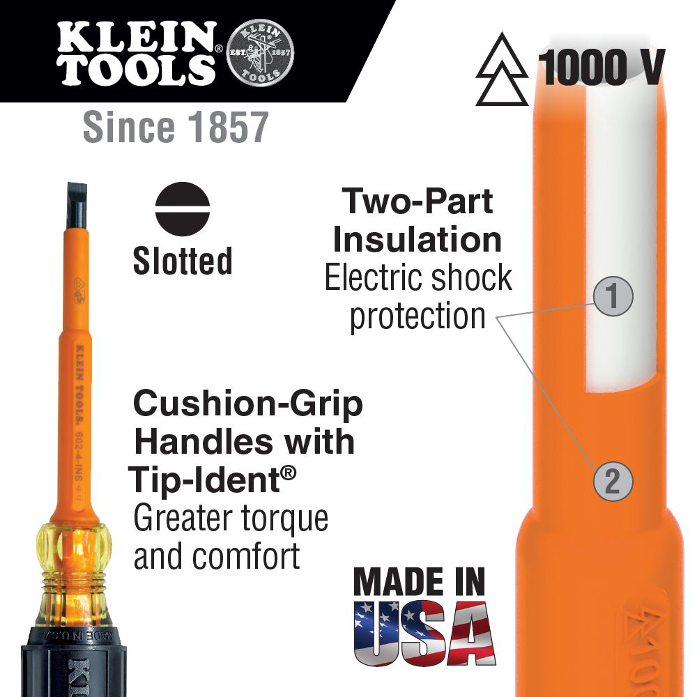 Mayer-Insulated 1/4-Inch Cabinet Tip Screwdriver, 7-Inch-1