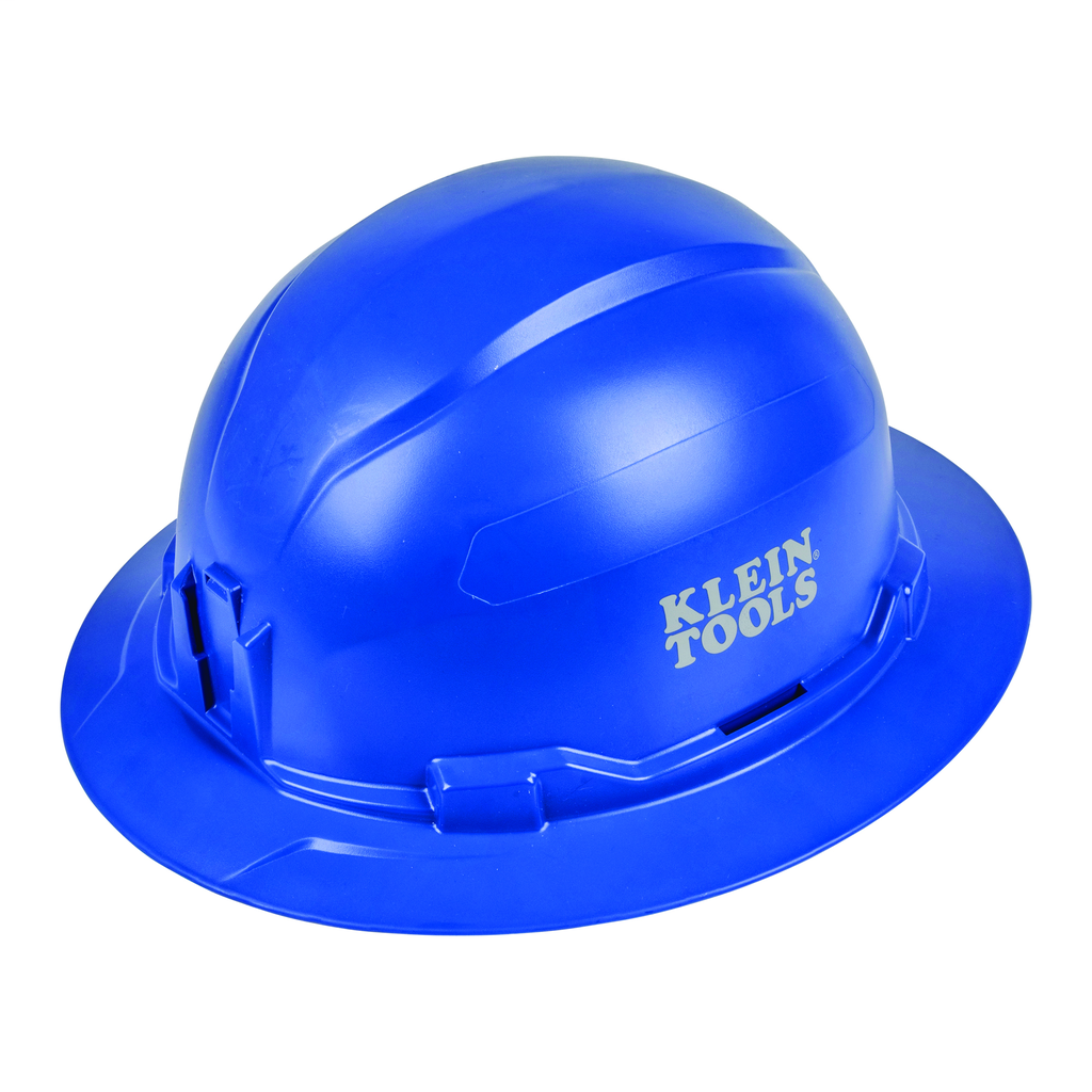 Mayer-Hard Hat, Non-Vented, Full Brim Style , Blue-1