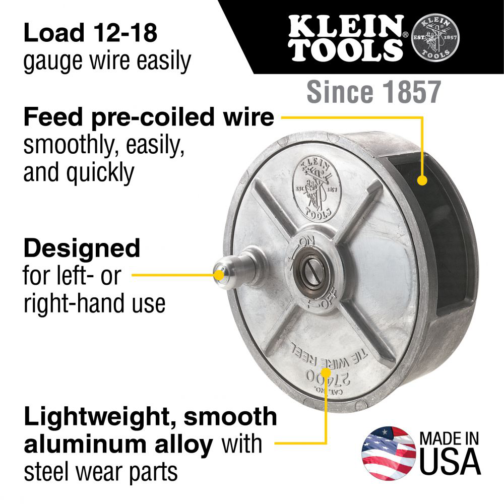 Tie Wire Reel, Lightweight Aluminum