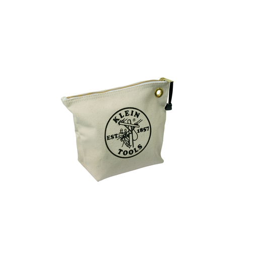 Zipper Bag, Canvas Tool Pouch, 10-Inch, Natural
