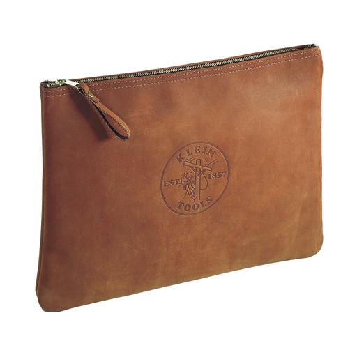Zipper Bag, Contractor's Leather Portfolio