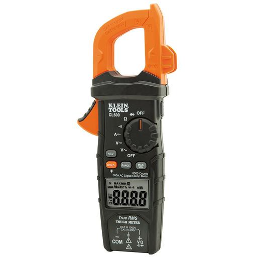 Digital Clamp Meter, True RMS, AC Auto-Ranging, 600 Amps