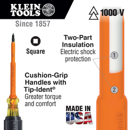 #2 Insulated Screwdriver with 7-Inch Shank
