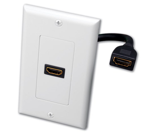 Mayer-Single HDMI® Pigtail Decor Wall Plate-1