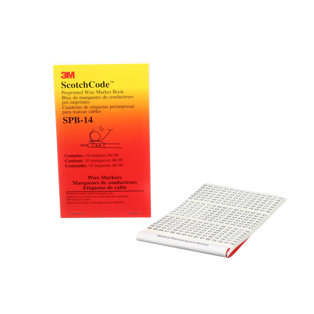 3M Electrical SPB-14 46 to 90 Legend Wire Marker Book