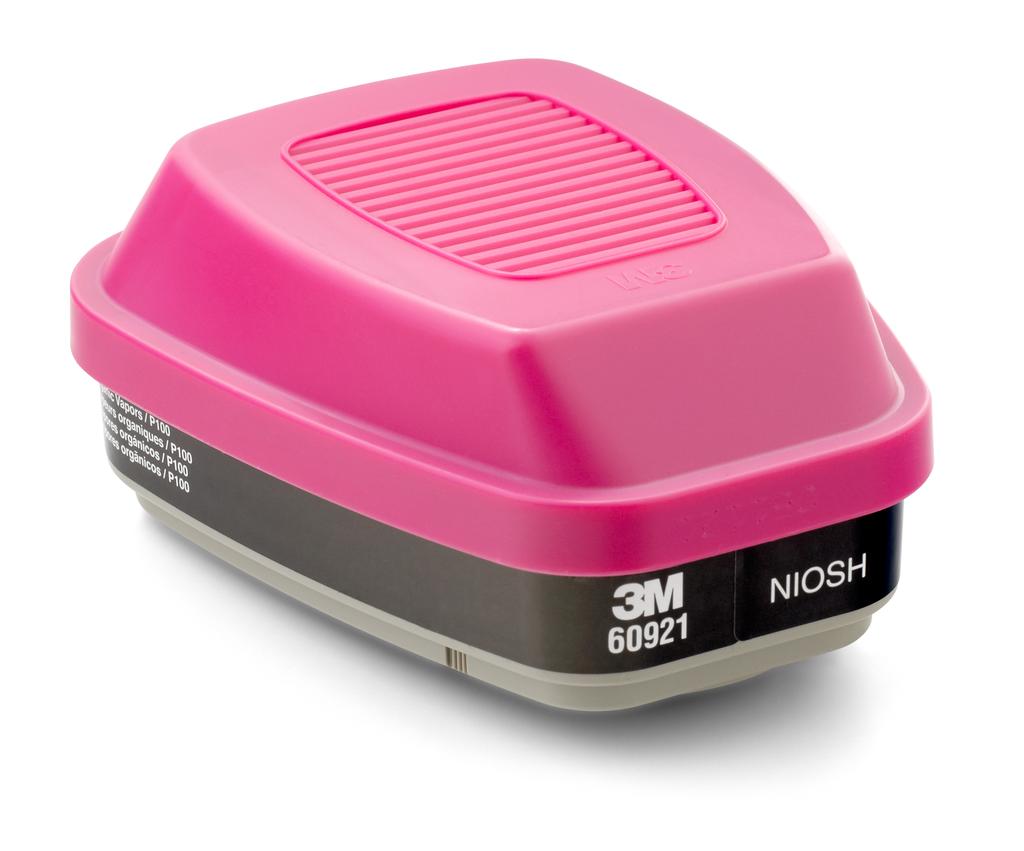 3M 60921 High Efficiency 60/Case Filter/Organic Vapor Cartridge