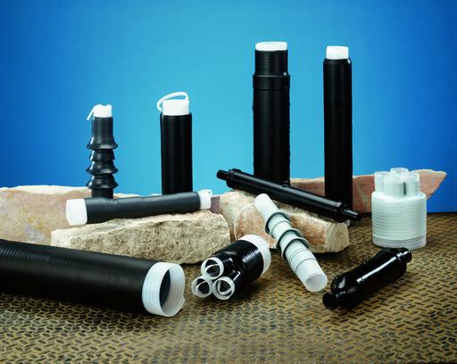 3M™ Cold Shrink QT-III Termination Kit 7624-T-110, Tape/Wire/UniShield® Shielding, 5-15 kV, Ins. OD 0.83-1.53 in, 1 Kits/Case