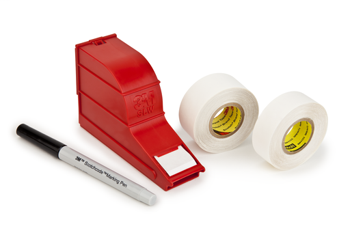 3M™ ScotchCode™ Wire Marker Write-On Dispenser with Tape and Pen SLW, 1.0 in x 5.0 in, 10/Case