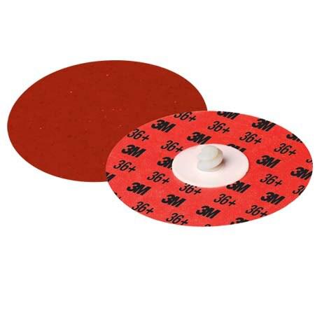 3M™ Cubitron™ II Roloc™ Durable Edge Disc 984F, 36+, YF-weight, TR, Maroon, 2 in, Die R200P, 50 per inner, 200 per case