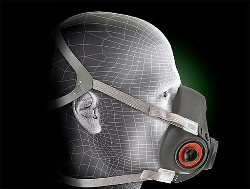 3M™ Half Facepiece Reusable Respirator 6300/07026(AAD) Large 24 EA/Case