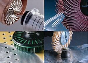 Scotch-Brite™ Radial Bristle Brush, 6 in x 1/2 in x 1 in 50 With Adapter, 5 per case