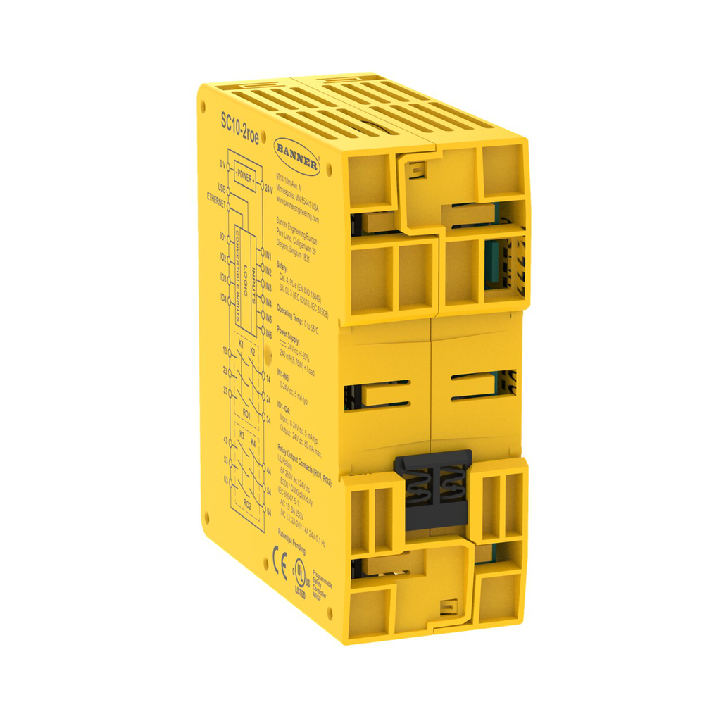 SC10-2ROE Safety Controller; 10 Inputs 2