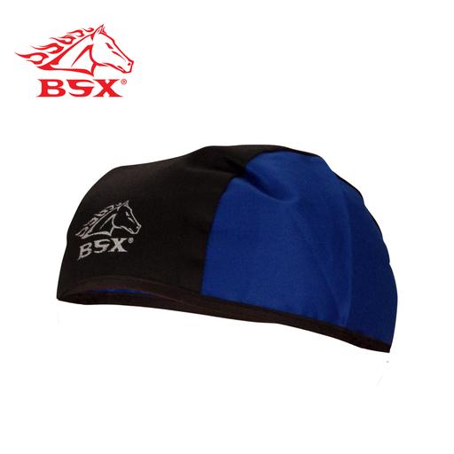 BSX BLACK/BLUE COTTON TWILL BEANIE CAP, N/A