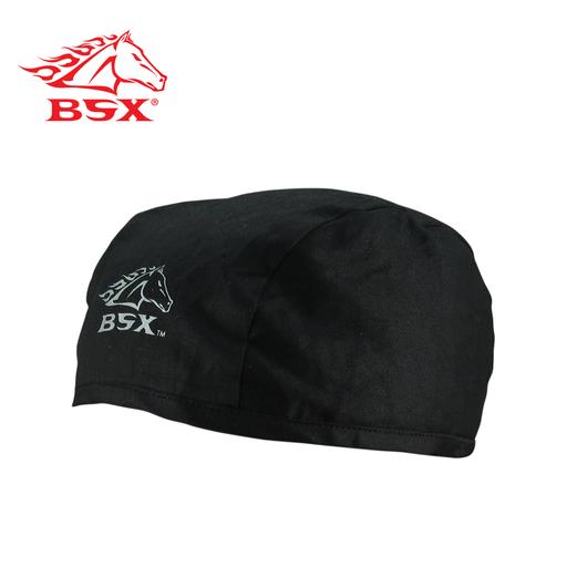 BSX BLACK - SILVER LOGO SOFTOP BEANIE CAP, N/A