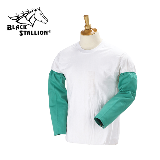 """9 OZ FLAME RESISTANT COTTON 18 INCH SLEEVES -- SNAP WRIST, 18"""""""