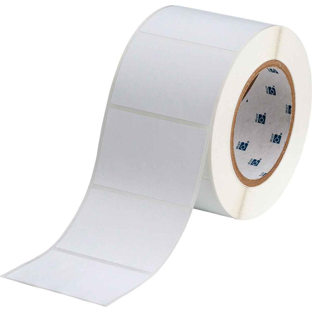 Brady THT-19-486-1 3 x 2 Inch Light Gray Polyester Thermal Transfer Printable Label
