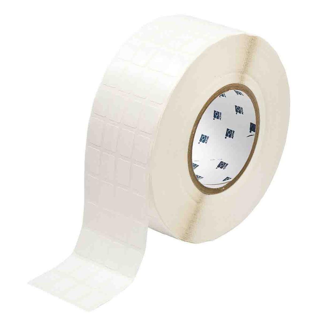 Brady THT-68-498-10 0.5 x 0.75 Inch Vinyl Cloth White Semi-Gloss Cable Marker Label Roll