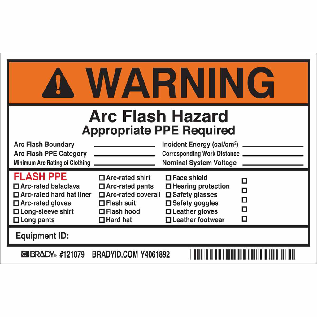 Brady 121079 6 x 4 Inch Black/Orange/White Vinyl Warning Sign