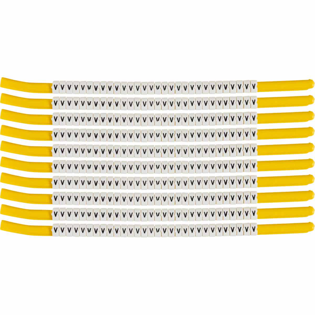 BRADY SCN18-V Wire Mkr,ClipSlv,V,SC