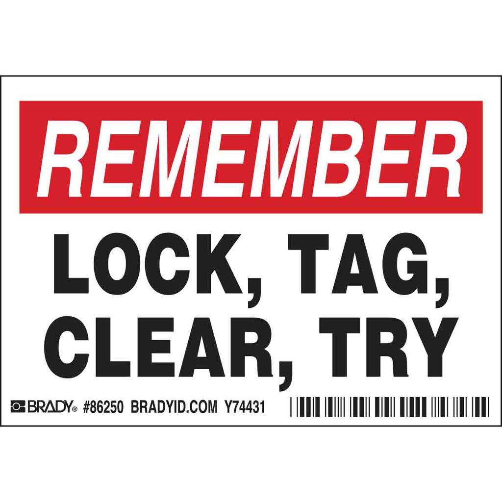 BRADY 86250 Label,B302,5x3.5,REM LO