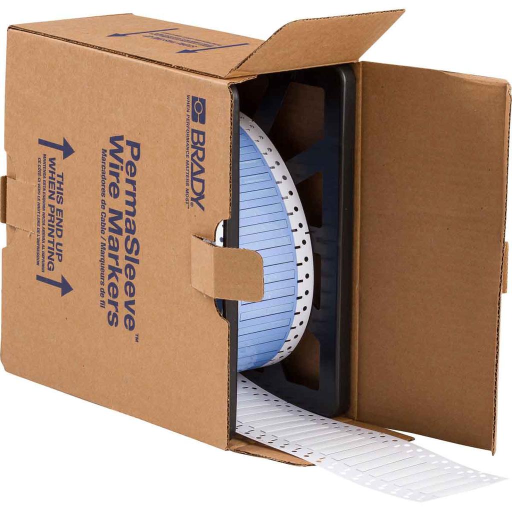 Brady PS-125-2-WT-2 2.79 x 25.4 x 6 mm White Polyolefin Wire Marking Sleeve