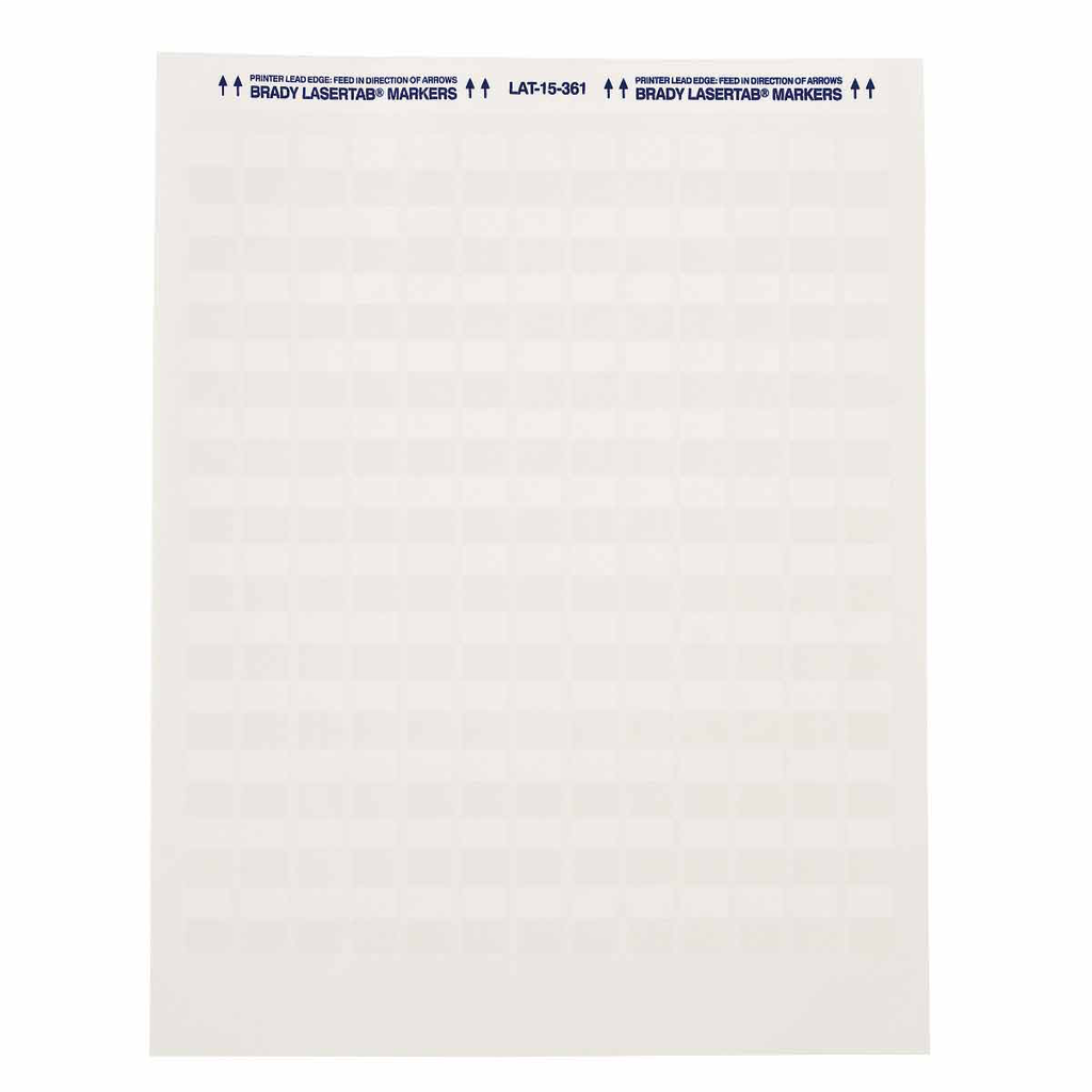 Brady LAT-15-361-5 33/Pack 0.5 x 0.75 Inch White/Translucent Polyester Laser Printable Label