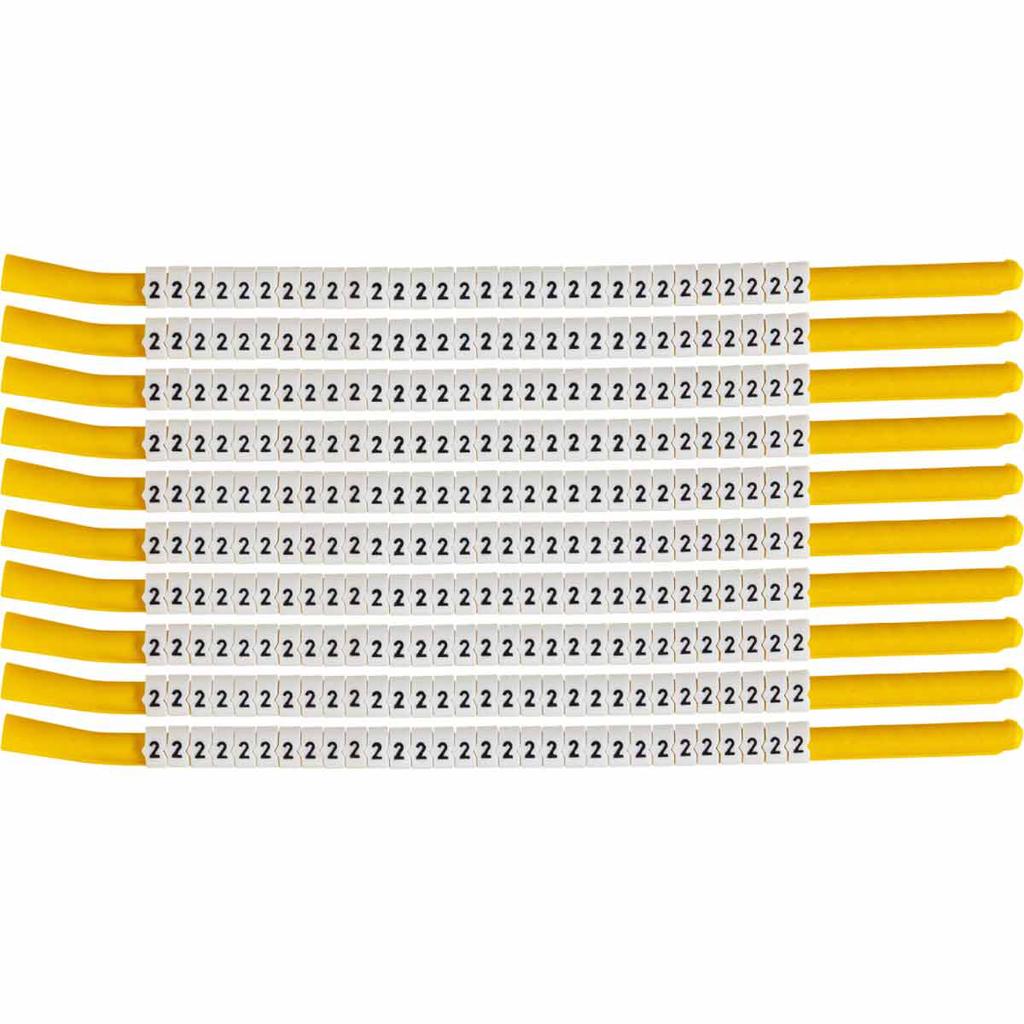 BRADY SCN18-2 Wire Mkr,ClipSlv,2,SC