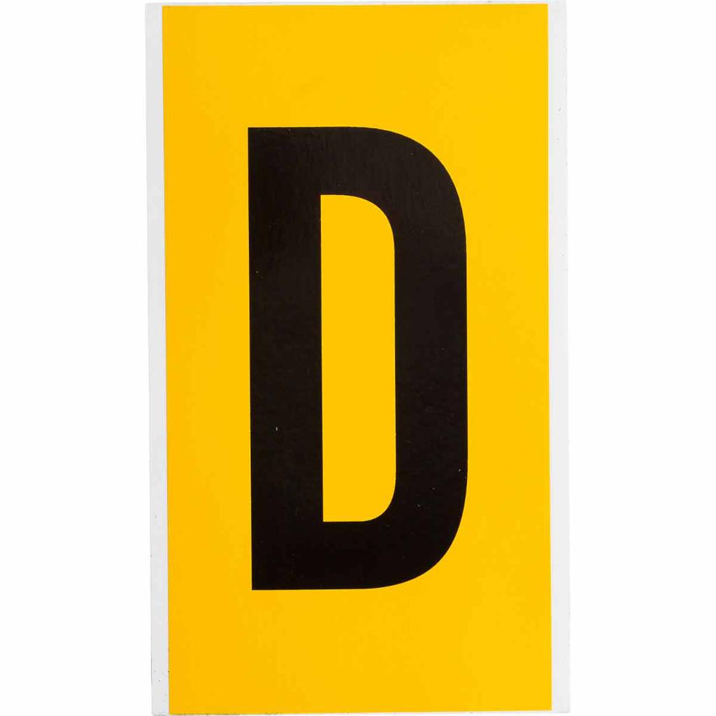 """BRADY 1570-D Label,15 Series,6""""H,Bk"""