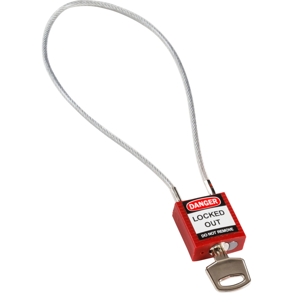 BRADY 146124 COMPACT CABLE PADLOCK