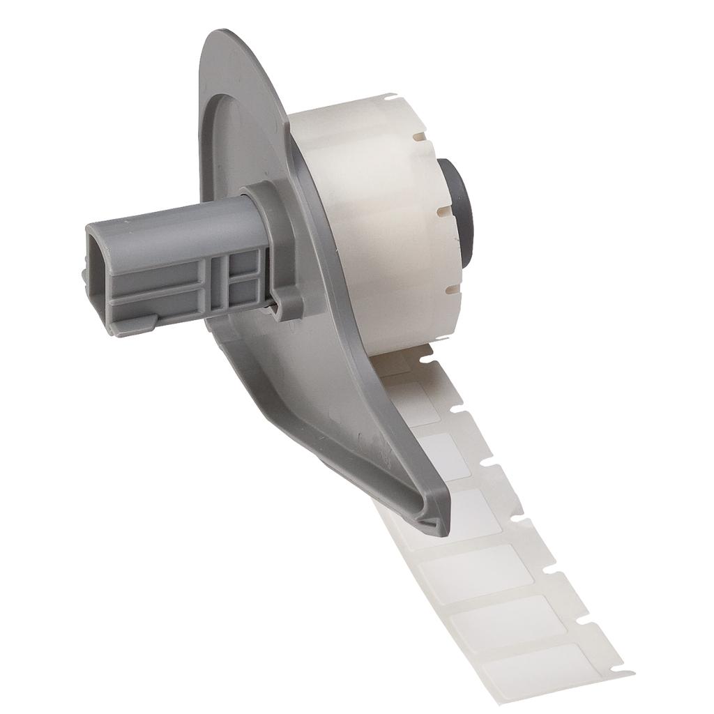 Brady M71-11-498 500/Pack 1/2 x 3/4 Inch Vinyl Cloth White Label Roll Wire Marker