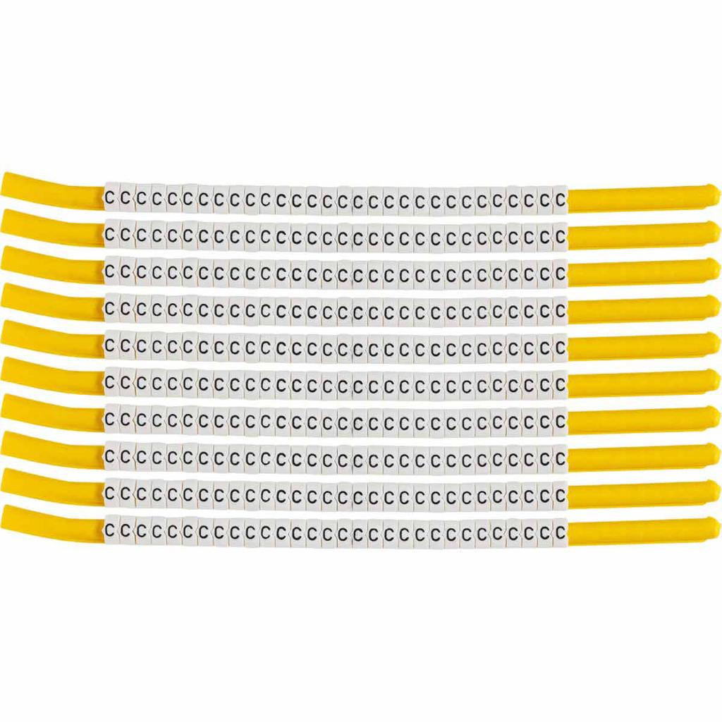 BRADY SCN18-C Wire Mkr,ClipSlv,C,SC