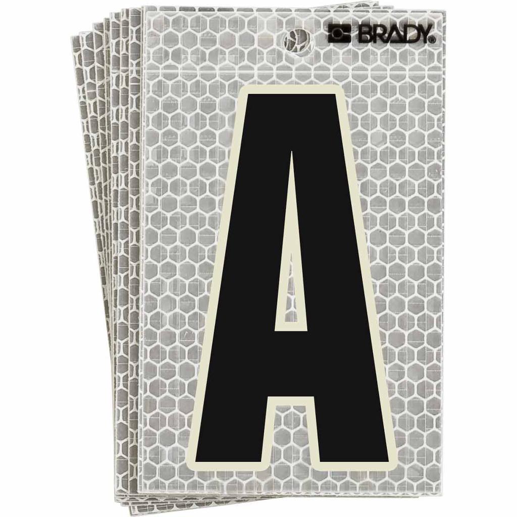 """BRADY 3020-A Label,3 Series,5""""H,Blk"""