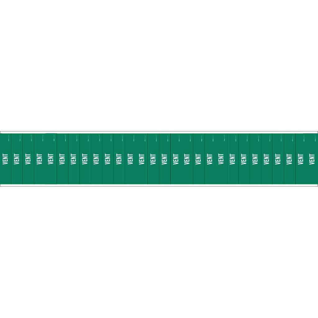 Brady 91979 1/2 x 2-1/4 Inch White/Green Vinyl Pipe Marker