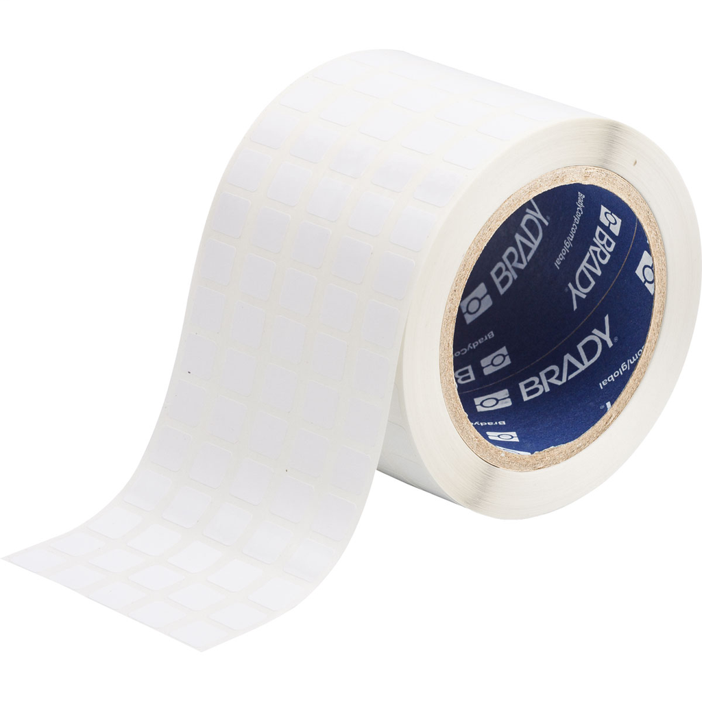 Brady THT-12-423-10 0.5 x 0.437 Inch White Polyester Thermal Transfer Printable Label