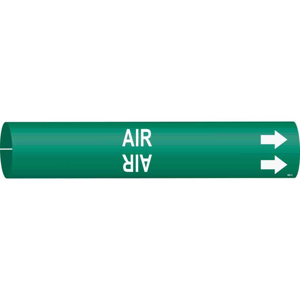 BRADY 4001-C PIPE MARKER, AIR/GRN/S