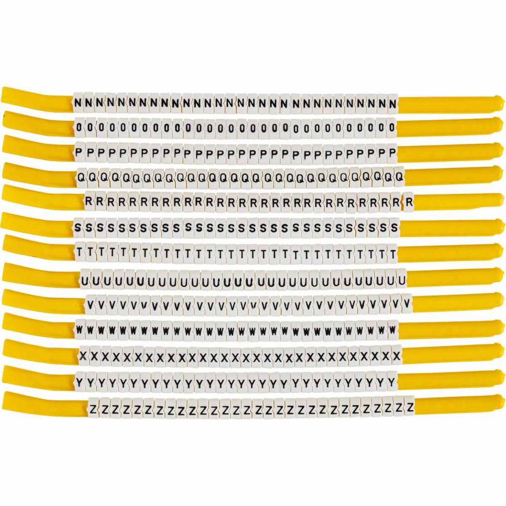 BRADY SCN18-N-Z Wire Mkr,ClipSlv,N