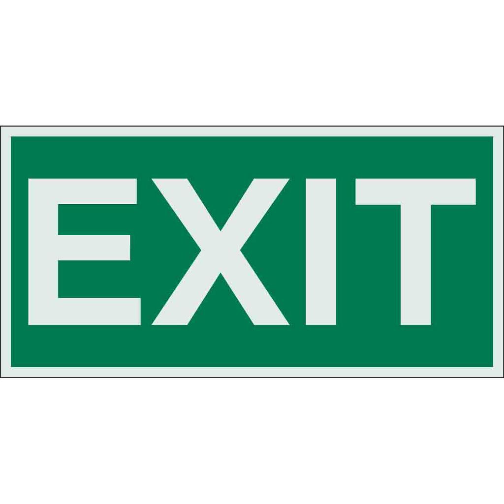 BRADY 59329 Sign,B324,6x3,Gr/Glw,EX