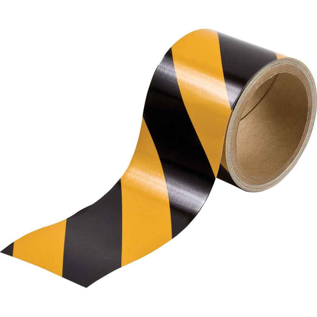 Brady 76312 3 Inch x 5 Yard Black/Yellow Reflective Vinyl Floor Marking Tape