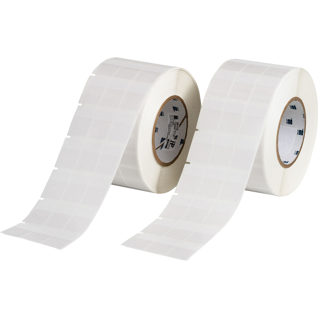 Brady THT-9-427-10 10000/Roll 1.0 x 1.437 Inch Vinyl White Matte Cable Marker Label Roll with Tail