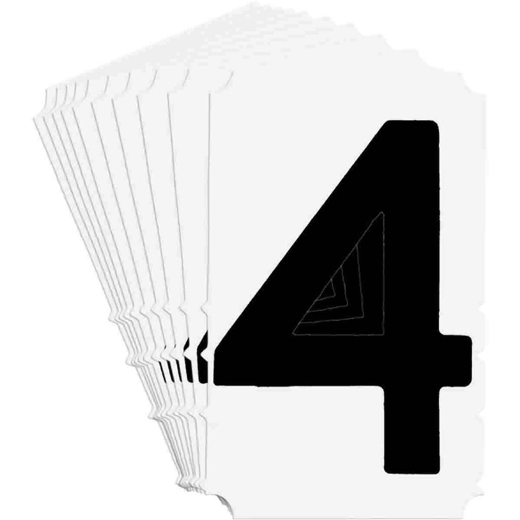 BRADY 5180-4 Label,Quik-Align Gothi