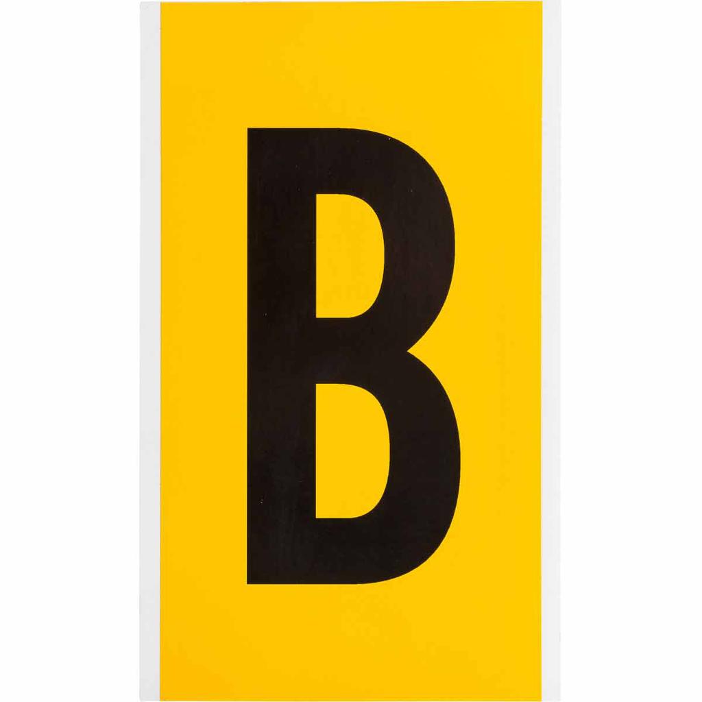"""BRADY 1570-B Label,15 Series,6""""H,Bk"""