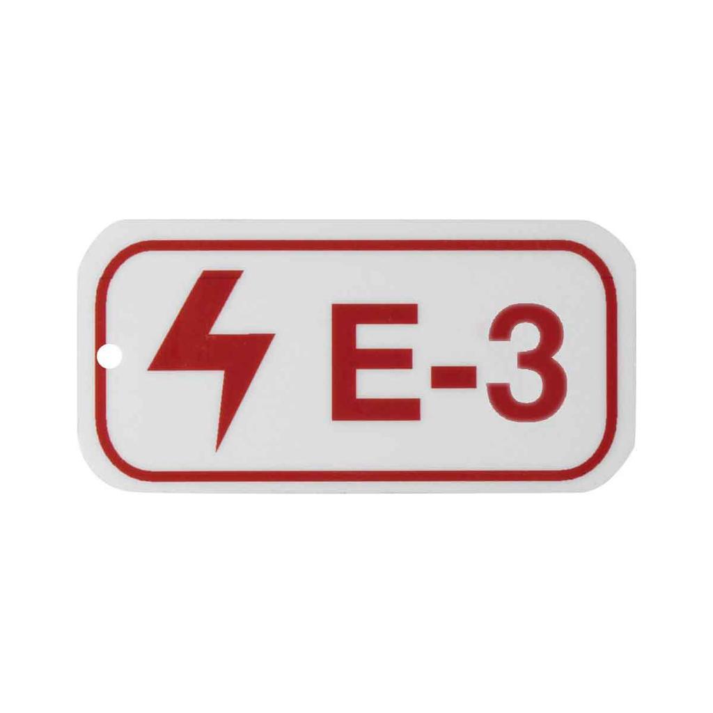"BRADY 105641 B401 1.5""X3"" RED/WHT E"