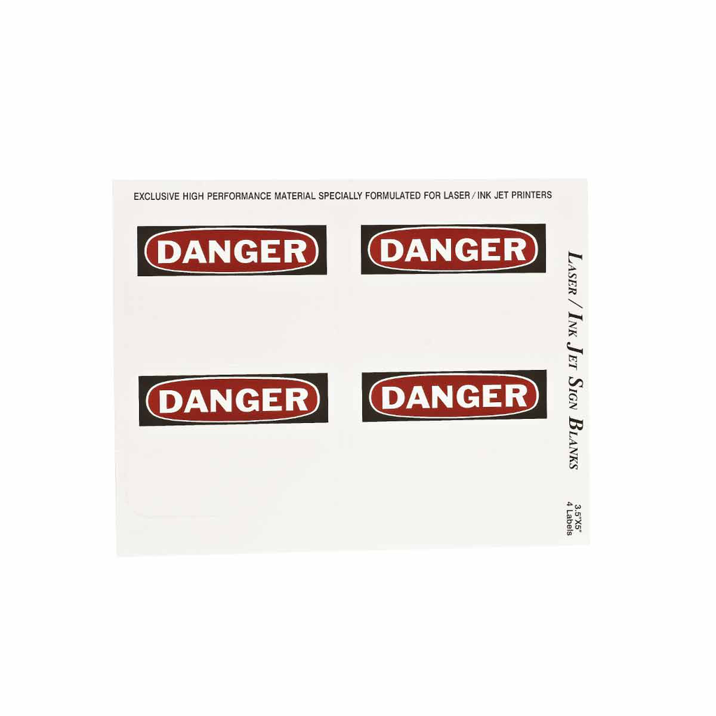 BRADY 12906 Label,B747,DANGER,5x3.5