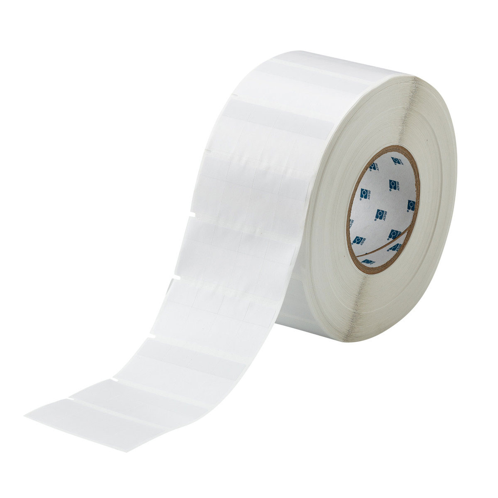 Brady THT-74-427-10 0.8 x 1.437 Inch Vinyl White Matte Cable Marker Label Roll with Tail