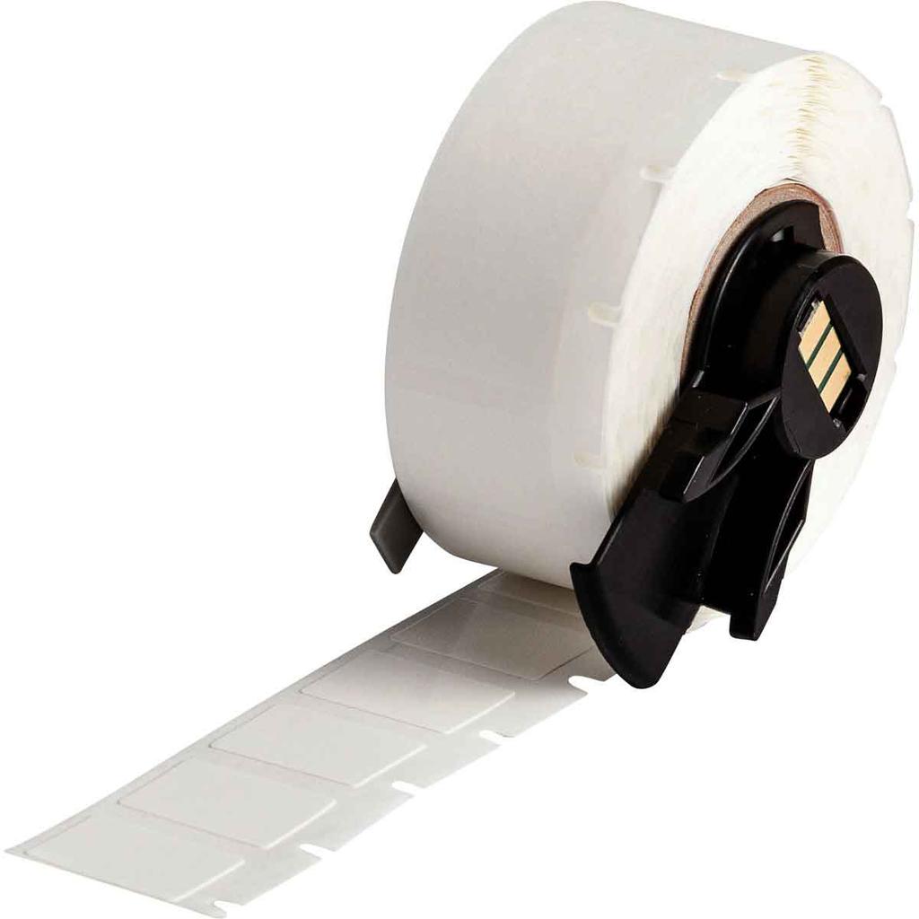 Brady PTL-11-498 500/Pack 0.5 x 0.75 Inch Vinyl Cloth White Semi-Gloss Label Roll