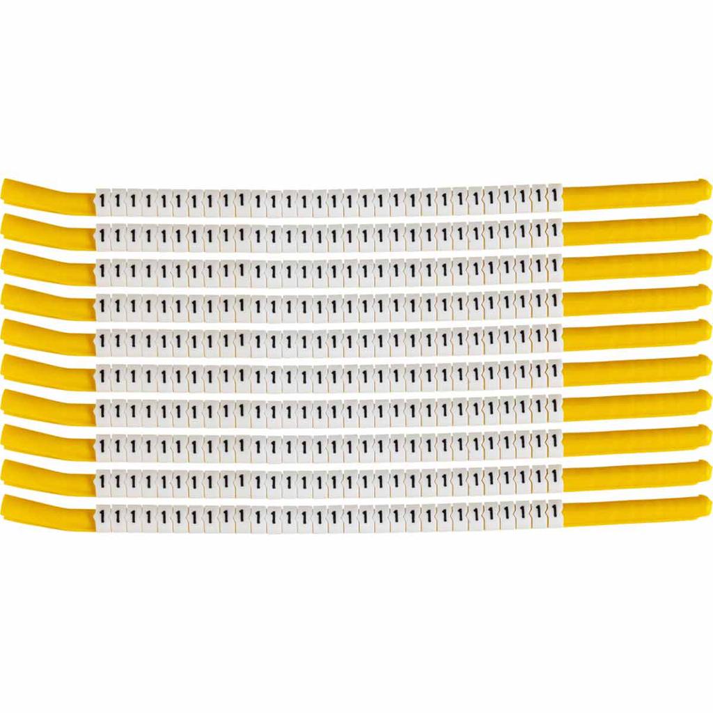 BRADY SCN18-1 Wire Mkr,ClipSlv,1,SC